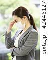 女性 ビジネスウーマン 体調不良の写真 42446127