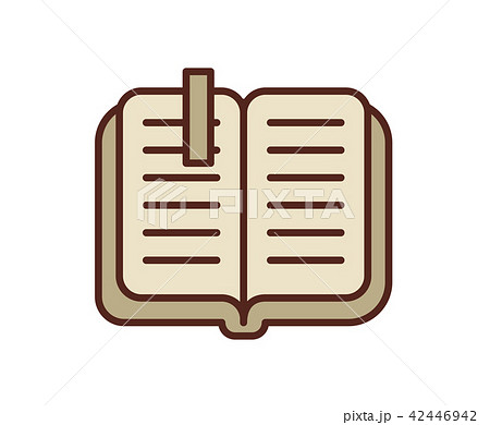 Open book icon, notebook. Line colored vector illustration. Isolated on white background 42446942