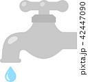 水道の蛇口と水滴 42447090