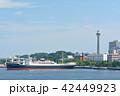 横浜 マリンタワー 豪華客船の写真 42449923