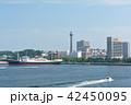 横浜 マリンタワー 豪華客船の写真 42450095
