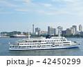 横浜 マリンタワー 豪華客船の写真 42450299