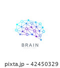 Colorful Vector Template Brain Logo. Creative Idea Concept Design Brain Logotype Icon. 42450329