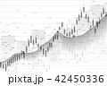Stock market or forex trading graph chart suitable for financial investment concept. Economy trends 42450336