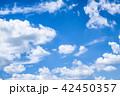 雲 空 晴れの写真 42450357