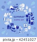 夏 アイコン セットのイラスト 42451027