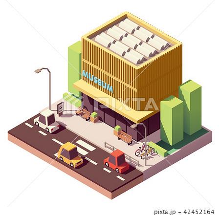 Vector isometric museum building 42452164