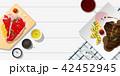 ステーキ肉 お肉 ミートのイラスト 42452945