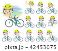 mischievous young  women_rode bicycle 42453075