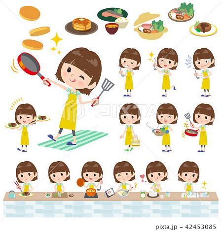 mischievous young  women_cooking 42453085