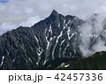 北アルプス三俣蓮華岳山頂からの景色 槍ヶ岳 北鎌尾根 42457336