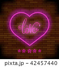 Pink Neon Love Sign 42457440
