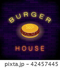 Burger House Neon Colorful Sign 42457445