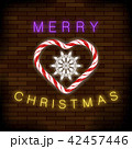 Merry Christmas Colorful Neon Sign with CHeart 42457446