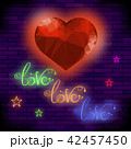 Red Neon Love Sign 42457450