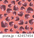 Red Polygonal Heart Random Seamless Pattern 42457454