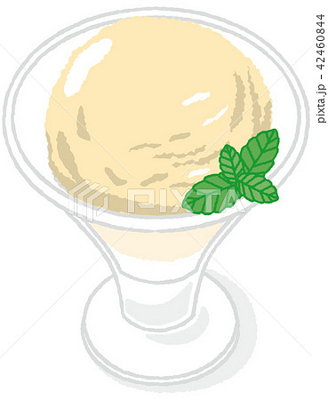 アイスクリーム バニラ 42460844