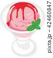 アイスクリーム 苺 42460847