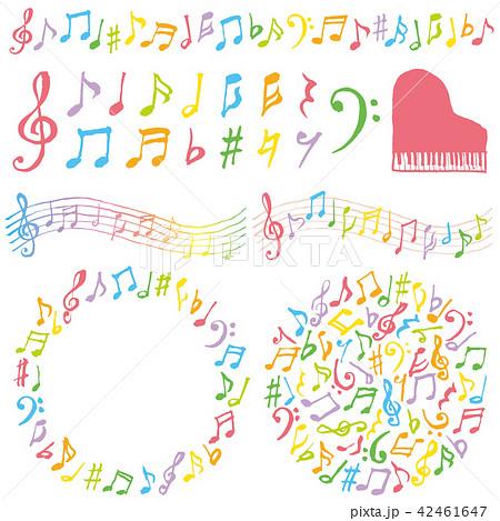 音楽 広告 装飾 カラフル 42461647