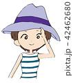帽子をかぶる女性 42462680