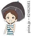 日傘をさす女性 42462681