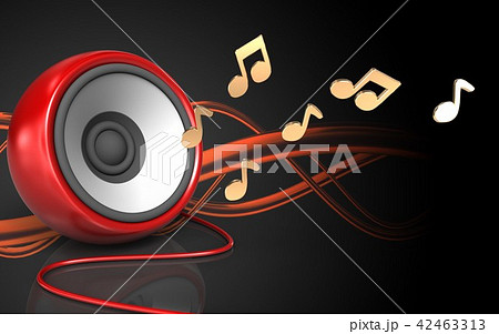 3d illustration of blank speaker 42463313