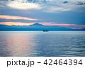 琵琶湖 湖 朝の写真 42464394