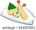 天ぷら 和食 和のイラスト 42465001