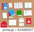 メモ帳 筆記帳 ブックのイラスト 42466007