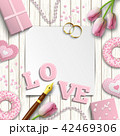 ロマンティック バレンタイン ウェディングのイラスト 42469306