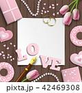 ロマンティック バレンタイン ウェディングのイラスト 42469308