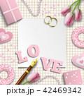 バレンタイン ロマンティック ウェディングのイラスト 42469342