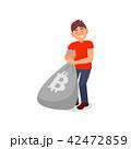 ビットコイン ベクトル コインのイラスト 42472859