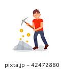 ビットコイン ベクトル 通貨のイラスト 42472880