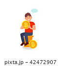 ベクトル 通貨 コインのイラスト 42472907