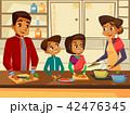 インド人 漫画 ファミリーのイラスト 42476345