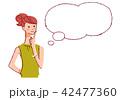 女性 考える 思い出すのイラスト 42477360