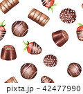 チョコレート 水彩画 柄のイラスト 42477990