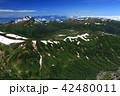 北アルプス 水晶岳 山岳の写真 42480011