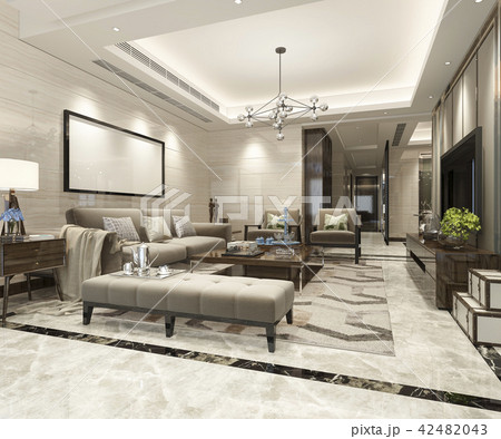 Modern Dining Room And Living Room Luxury Decor