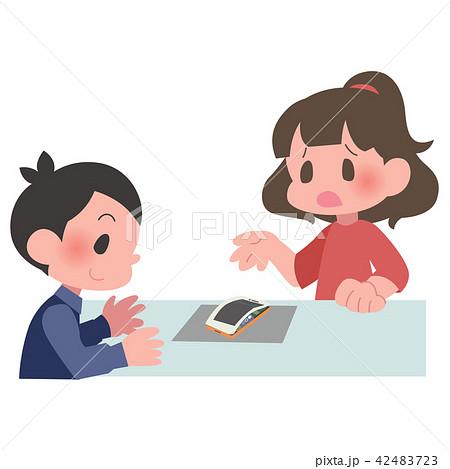 スマートフォン バッテリー 膨張 修理 女性 42483723