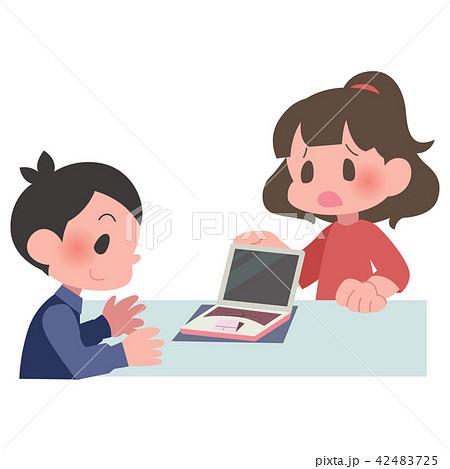ノートパソコン バッテリー 膨張 修理 女性 42483725