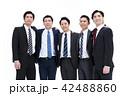 ビジネス 白バック 大人数 ビジネスマン 男性 42488860