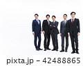 ビジネス 白バック 大人数 ビジネスマン 男性 42488865