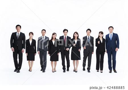 ビジネス 白バック 大人数 ビジネスマン 男性 42488885