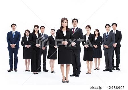 ビジネス 白バック 大人数 ビジネスマン 男性 42488905