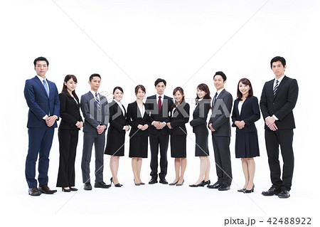 ビジネス 白バック 大人数 ビジネスマン 男性 42488922