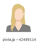 女性 顔なし 外国人のイラスト 42489114