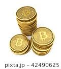 ビットコイン 立体 3Dのイラスト 42490625