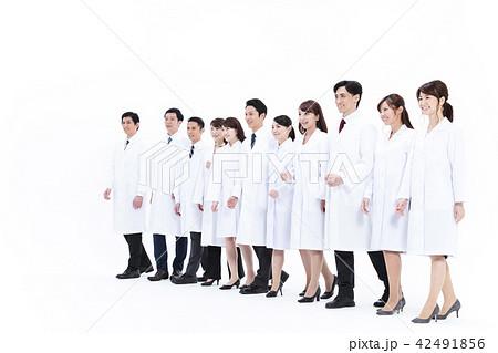 サイエンス 科学者 医者 科学 チーム 大人数 研究 女性 男性 42491856